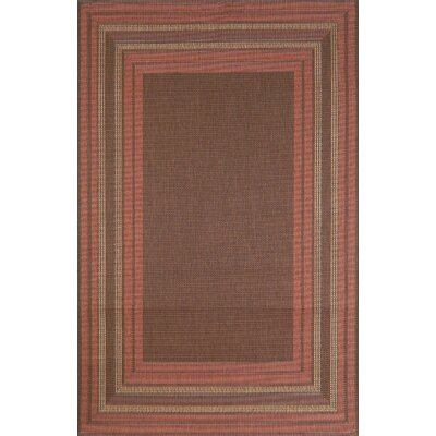 Trans-Ocean Rug Terrace Etched Terracotta Border Rug