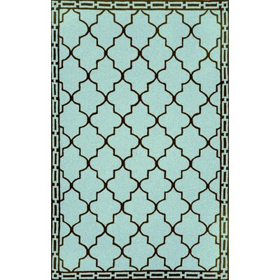 Trans-Ocean Rug Ravella Floor Tile Aqua Indoor / Outdoor Rug