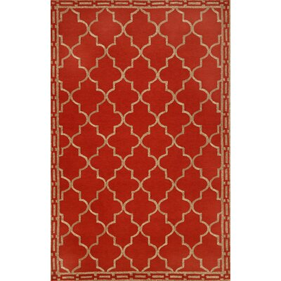 Trans-Ocean Rug Ravella Floor Tile Red Indoor/Outdoor Rug
