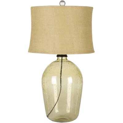 "Surya Mabel 28"" H Table Lamp with Drum Shade"