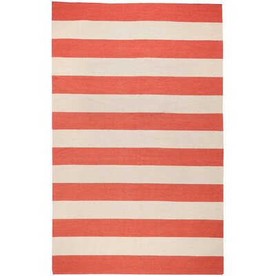 Surya Frontier Red Striped Rug