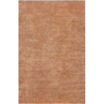 Luminous Rust Orange / Amber Contemporary Rug