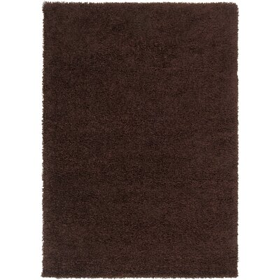 Surya Luxury Shag Dark Chocolate Rug