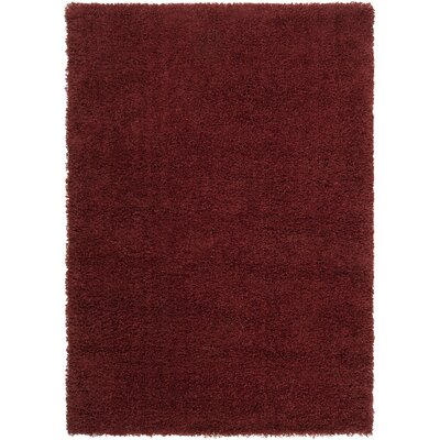 Surya Luxury Shag Sienna/Brick Red Rug