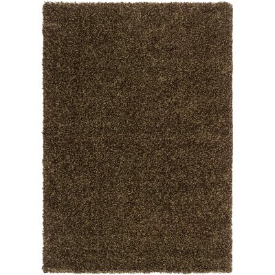 Surya Luxury Shag Dark Chocolate/Khaki Green Rug