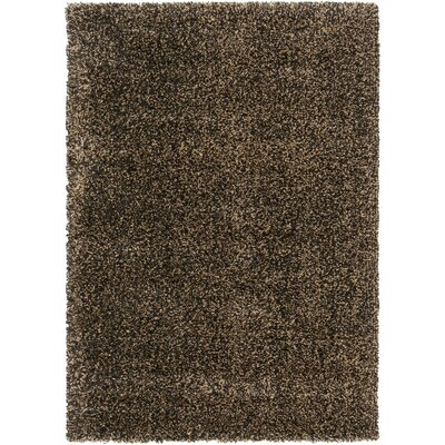 Surya Luxury Shag Jet Black/Tan Rug