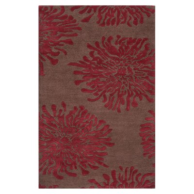 Surya Rug Bombay Chocolate/Red Rug