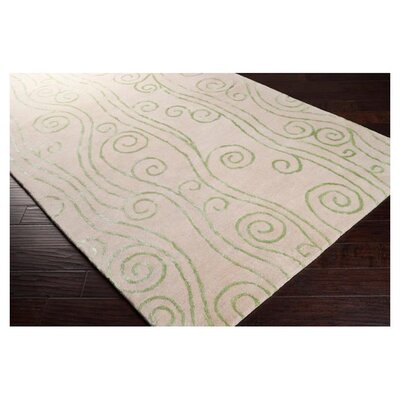 Surya Escape White Leaf Rug