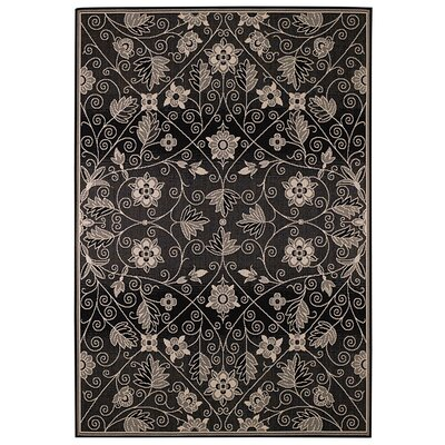 Elsinore Garden Maze Ebony Indoor/Outdoor Rug