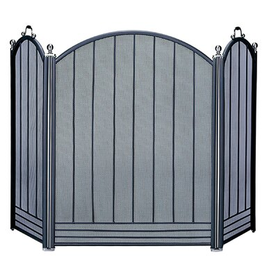 Brushed Nickel/Black Fire Screen