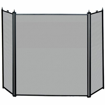 Uniflame Corporation 3 Panel Matte Fireplace Screen
