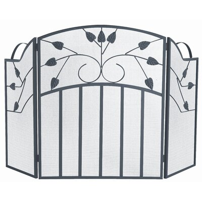 3 Fold Black Wrought Iron Screen