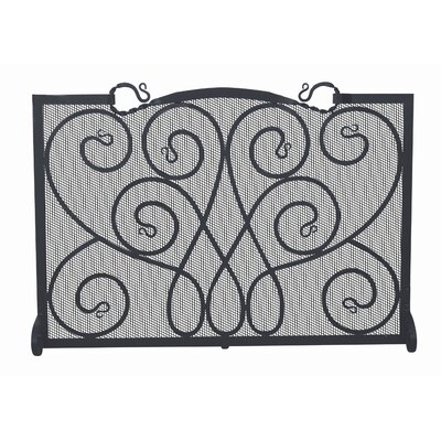 Uniflame Corporation Single Panel Ornate Wrought Iron Fireplace Screen