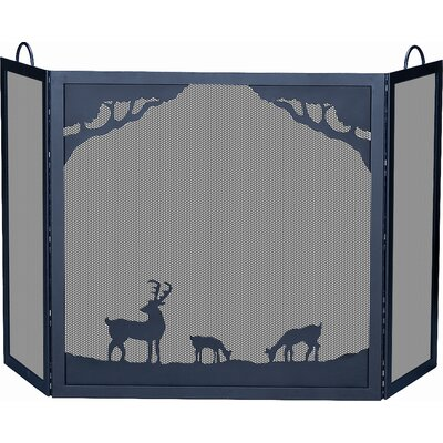 Uniflame Corporation Deluxe Nature 3 Panel Wrought Iron Fire Fireplace Screen