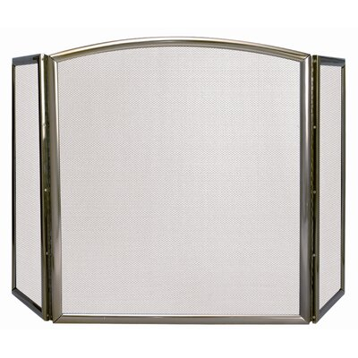 3 Panel Extruded Aluminum Fireplace Screen
