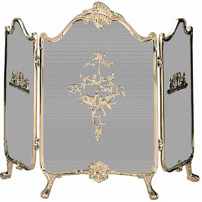 Uniflame Corporation Ornate Solid Brass Fireplace Screen