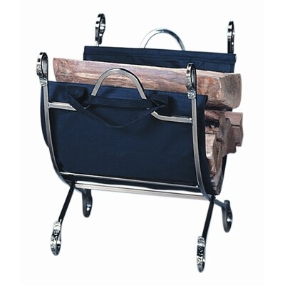 Iron Log Rack with Canvas Carrier