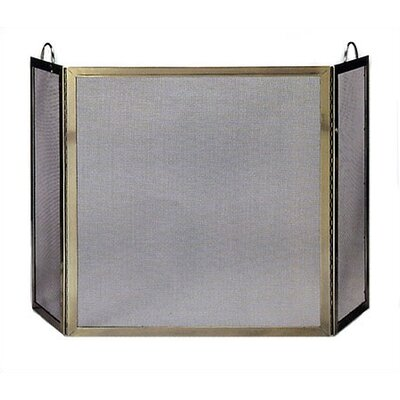 3 Fold Polished Screen w/ Handles