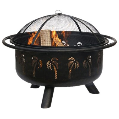 Uniflame Corporation Outdoor Fire Pit with Palm Tree Design