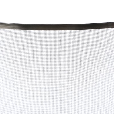 Uniflame Corporation Single Panel Curved Pewter Fireplace Screen
