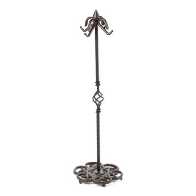 Uniflame Corporation 4 Piece Bronze Heavy Weight Fireplace Tool Set With Stand