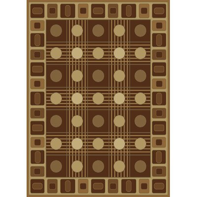 United Weavers of America China Garden Checkers Chocolate Rug