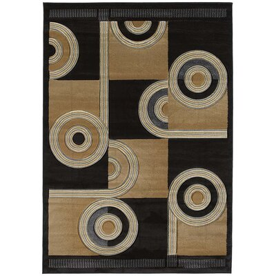 United Weavers of America Contours Spiral Canvas Chocolate Rug