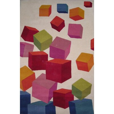 Dynamic Rugs Fantasia Block Beige Kids Rug