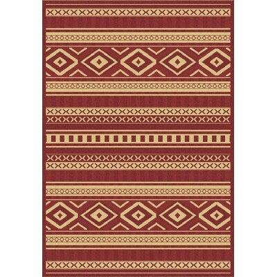 Dynamic Rugs Piazza Red Rug