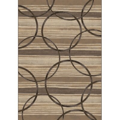 Dynamic Rugs Eclipse Multi Silver Circles Rug
