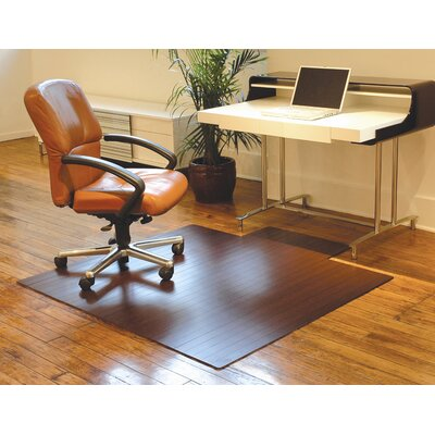Anji Mountain Standard Bamboo Office Chairmat, With Lip