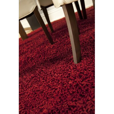 Anji Mountain Silky Shag Crimson Rug