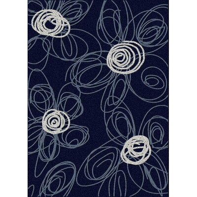 Bella Drawn Navy/Pearl Rug