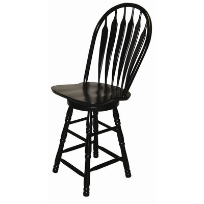 Sunset Trading Sunset Selections Swivel Comfort Back Counter Stool
