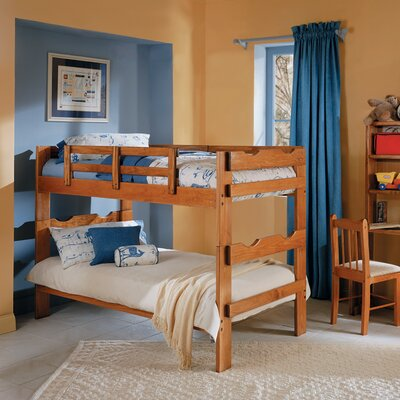 Rustic Scalloped Twin over Twin Bunk Bed
