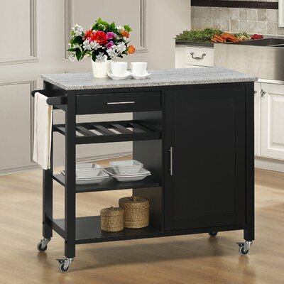 Calgary Kitchen Island with Granite Top