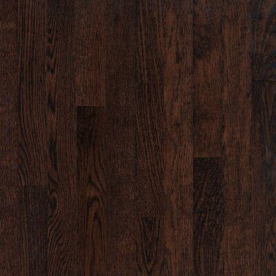 "Armstrong Kingsford Strip 2-1/4"" Solid White Oak Flooring in Kona"