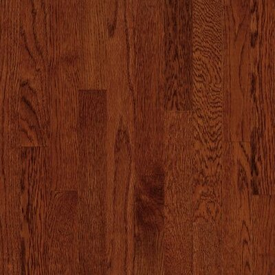 "Armstrong Kingsford Strip 2-1/4"" Solid White Oak Flooring in Cherry"