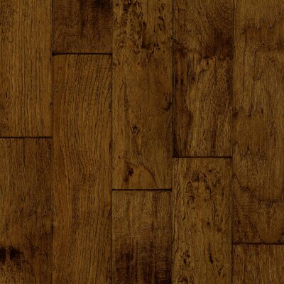 """Armstrong Century Farm 5"""" Hand-Sculpted Engineered Hickory Flooring in Turned Earth"""