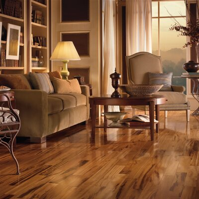 "Armstrong Valenza 3-1/2"" Solid Tigerwood Flooring in Natural"