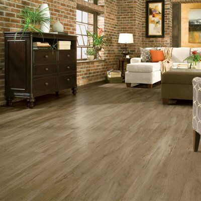 """Armstrong Luxe Timber Bay Hickory 6"""" x 48"""" Vinyl Plank in Barnyard Gray"""