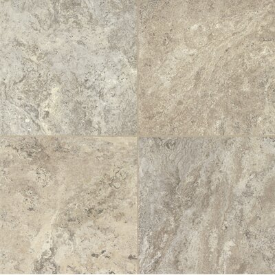 "Armstrong Alterna Reserve Classico Travertine 16"" x 16"" Vinyl Tile in Blue Mist/Beige"