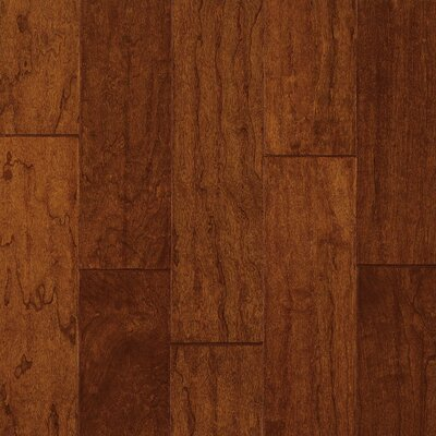 "Armstrong Century Farm Hand-Sculpted 5"" Engineered Cherry Flooring in Bronze"