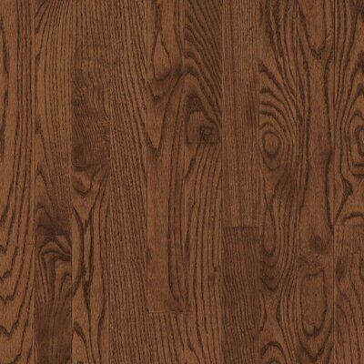 "Armstrong Yorkshire Strip 2-1/4"" Solid White Oak Flooring in Umber"