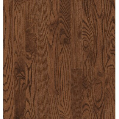 Bruce Flooring SAMPLE - Dundee™ Strip Solid Red / White Oak in Saddle