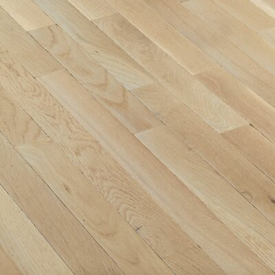 "Bruce Flooring Fulton Plank 3-1/4"" Solid White Oak Flooring in Winter White"