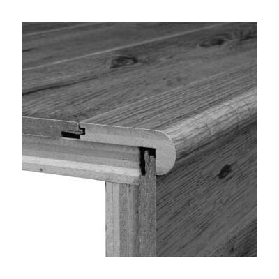 "Bruce Flooring 0.38"" x 2.75"" Red Oak Stair Nose in Saddle"