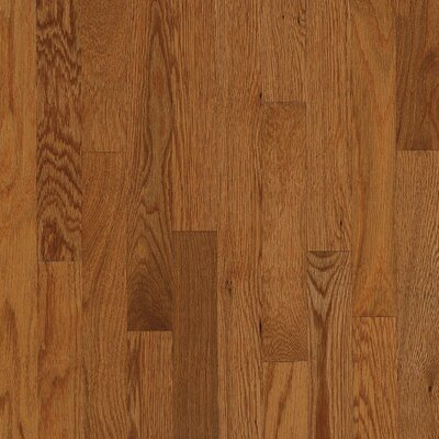 "Bruce Flooring Natural Choice Strip Low Gloss 2-1/4"" Solid Red / White Oak Flooring in Gunstock"