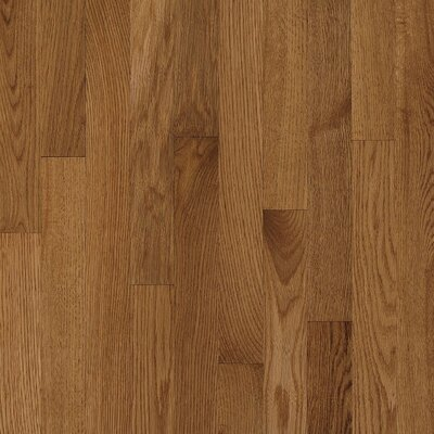 "Bruce Flooring Natural Choice Strip Low Gloss 2-1/4"" Solid Red / White Oak Flooring in Mellow"