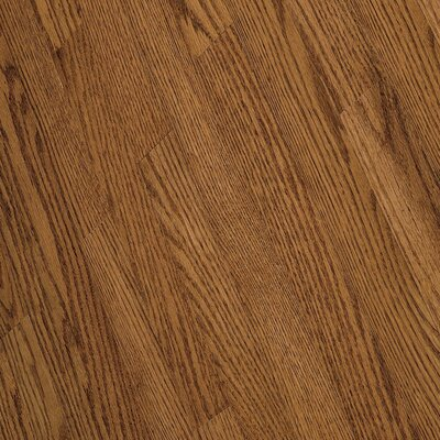 "Bruce Flooring Fulton Plank 3-1/4"" Solid Red / White Oak Flooring in Gunstock"